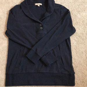 Banana Republic shawl collar sweatshirt navy